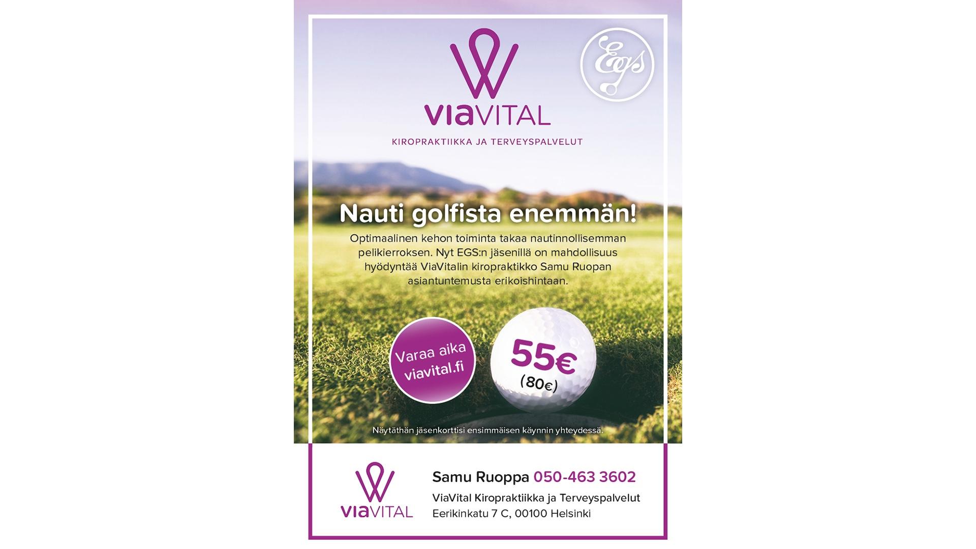 Mainos : ViaVital & EGS